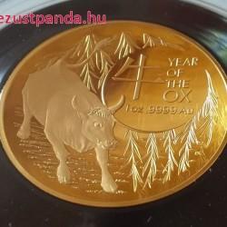 Bivaly éve 2021 1 uncia ausztrál proof arany pénzérme (RAM), homorú - csak 750 példány!