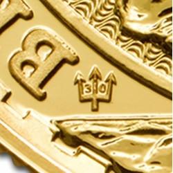 Britannia 30. jubileum 2017 brit arany pénzérme