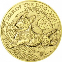 Kutya éve 2018 1 uncia brit arany pénzérme