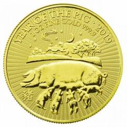Disznó éve 2019 1 uncia brit arany pénzérme