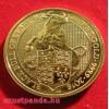 A királynő címerállatai - Clarence fekete bikája 2018 1 uncia 100 GBP arany pénzérme