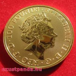 A királynő címerállatai - A Beaufort Antilop 2019 1 uncia 100 GBP arany pénzérme