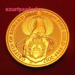 A királynő címerállatai - Griffmadár 2017 1/4 uncia 25 GBP arany pénzérme