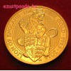 A királynő címerállatai - Oroszlán 2016 1 uncia 100 GBP arany pénzérme