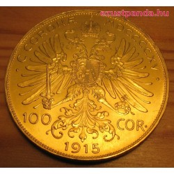 100 korona osztrák arany pénzérme (mai utánveret)