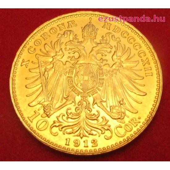 10 korona osztrák arany pénzérme (mai utánveret)