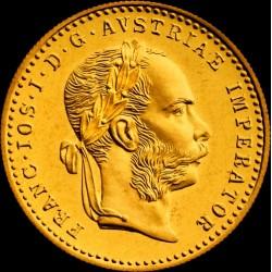 1 dukát osztrák arany pénzérme (mai utánveret)