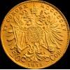 20 korona osztrák arany pénzérme (mai utánveret)