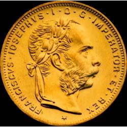 8 gulden osztrák arany pénzérme (mai utánveret)
