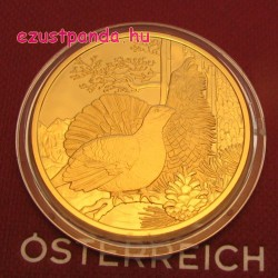 Siketfajd / Auerhahn 2015 100 Euro proof arany pénzérme