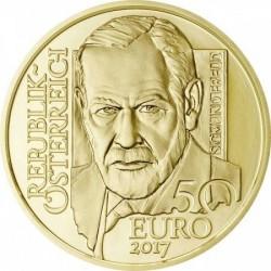 Sigmund Freud 2017 50 Euro proof arany pénzérme