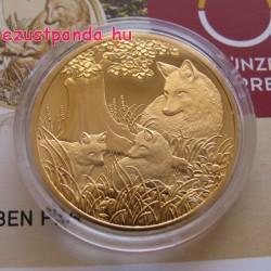 Róka / Fuchs 2016 100 Euro proof arany pénzérme