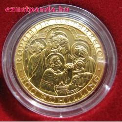 Krisztus születése 500 schilling 2000 évi arany pénzérme