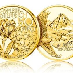 Az Alpok természeti kincsei  - Hohe Tauern 2020 50 Euro proof arany pénzérme