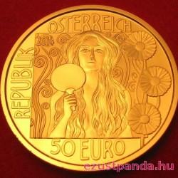 Klimt 2014 Judith II. 50 Euro proof arany pénzérme