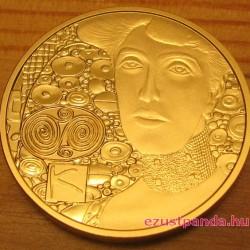 Klimt 2012 Adele Bloch-Bauer 50 Euro proof arany pénzérme