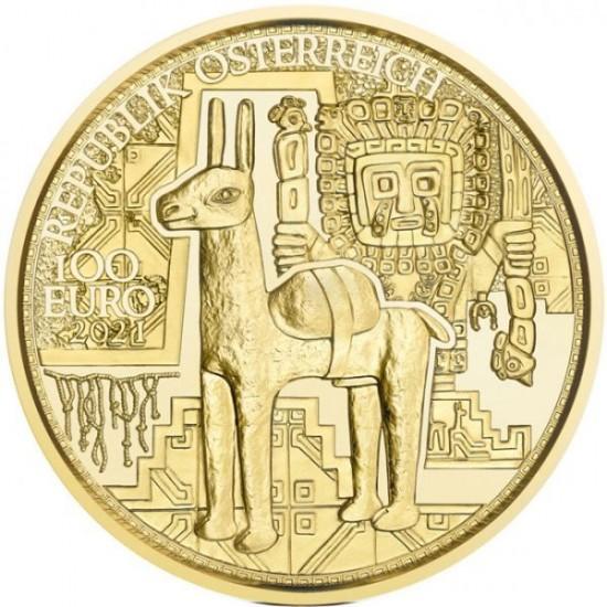 Az arany varázslata - Az inkák aranya 2021 100 Euro proof arany pénzérme