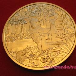 Szarvas/Rothirsch 2013 100 Euro proof arany pénzérme