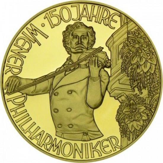 Johann Strauss 1992 1000 schilling proof arany pénzérme