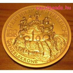 Habsburgok koronái - Szt. Vencel cseh koronája 2011 100 Euro proof arany pénzérme