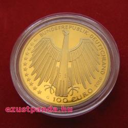 Regensburg 2016 100 Euro német arany pénzérme