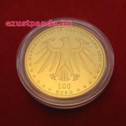 Wittenberg és Eisleben - Luther városai 2017 100 Euro német arany pénzérme