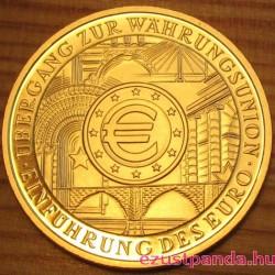 Az Euro bevezetése (Einführung der Euro) 2002 100 Euro német arany pénzérme