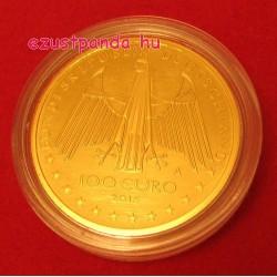 Rajna völgye 2015 100 Euro német arany pénzérme