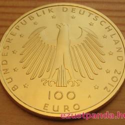 Aachen 2012 100 Euro német arany pénzérme