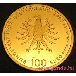 Quedlinburg 2003 100 Euro német arany pénzérme