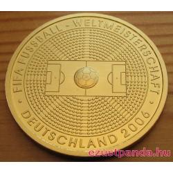 FIFA 2006 foci VB 2005 évi 100 Euro német arany pénzérme