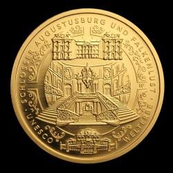 Augustusburg és Falkenlust - rokokó kastélyok 2018 100 Euro német arany pénzérme