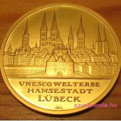 Lübeck 2007 100 Euro német arany pénzérme