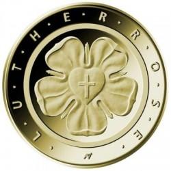 Luther-rózsa 2017 50 Euro német arany pénzérme
