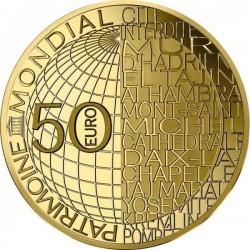 Fudzsi hegy 2020 50 Euro francia proof arany pénzérme