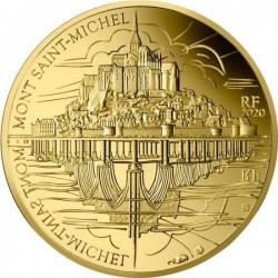 Mont-Saint-Michel 2020 50 Euro francia proof arany pénzérme - CSAK 500 PÉLDÁNY!