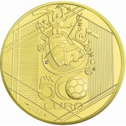UEFA Futball EB 2016 500 Euro 5 uncia proof arany pénzérme