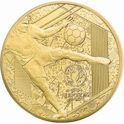 UEFA Futball EB 2016 50 Euro proof arany pénzérme