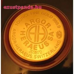 Aranyrúd 1 uncia svájci Argor-Heraeus kerek