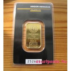 Aranyrúd 10g svájci Argor-Heraeus