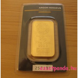 Aranyrúd 20g svájci Argor-Heraeus