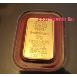 Aranyrúd 2 gramm svájci Argor-Heraeus