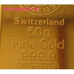 Aranyrúd 50g svájci Argor-Heraeus