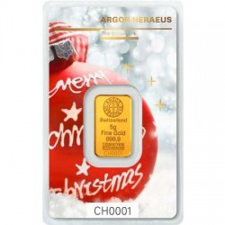 Aranyrúd 5g svájci Argor-Heraeus Karácsonyi kiadás