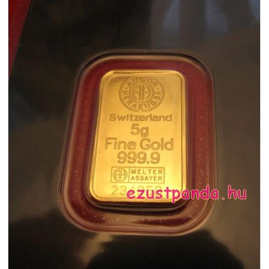 Aranyrúd 5g svájci Argor-Heraeus