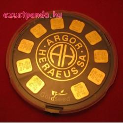 """Aranyrúd 10x1g """"Aranymagvak"""" svájci Argor-Heraeus"""