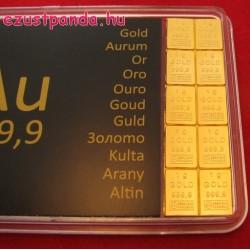 """Aranyrúd 10x1g """"Combibar"""" svájci Valcambi"""