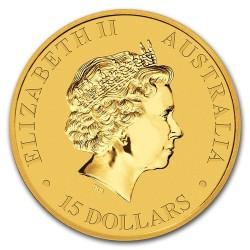Kenguru 2018 1/10 uncia arany pénzérme
