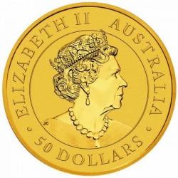 Kenguru 2021 1/2 uncia arany pénzérme