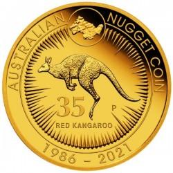 Kenguru 35. évforduló 2021 1/4 uncia proof arany pénzérme - CSAK 1000 példányban!